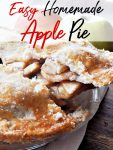 An oldie but goodie, this homemade apple pie recipe is perfection in a pie plate! Get the recipe to make it yourself and enjoy the homemade buttery pie crust recipe too!