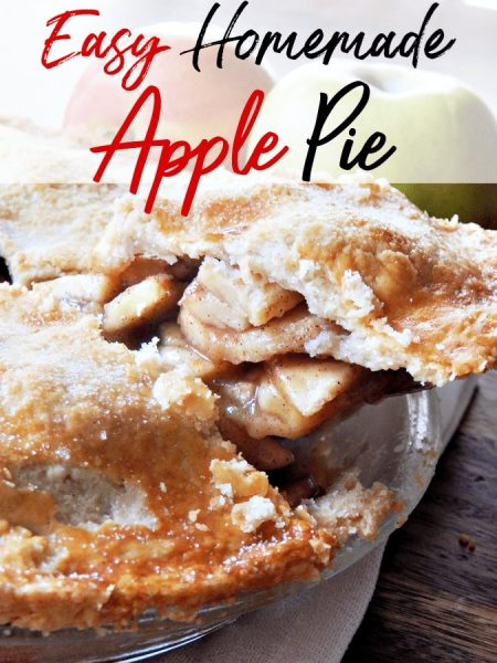 An oldie but goodie, this easy apple pie recipe is perfection on a plate! Get the recipe for and enjoy the homemade buttery pie crust recipe too!