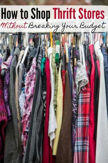 Thrift Store Shopping Tips to Help You Budget - Do you love shopping at thrift stores or is it a new experience for you? These thrift store shopping tips will show you how to shop at thrift stores so you save the most money and waste the least time!