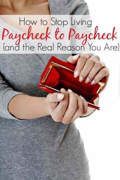 How to Stop Living Paycheck to Paycheck - Tired of a tight personal budget and ready to stop living paycheck to paycheck? Let me show you how to stop living paycheck to paycheck in just a few steps plus I'll explain the real reason you are!