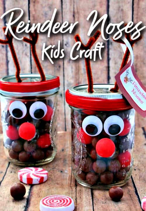 Mason Jar Crafts Reindeer Noses Diy Gift Idea Six Dollar Family Crafts