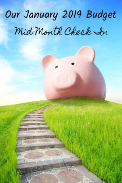 Our Budget for January 2019: Mid-Month Check In - I love to sneak a peek at other people's budgets! It helps me to know whether I'm on track or not! Here is our mid-month check in for our personal budget for January 2019! See why we're rebuilding our savings from the ground up!