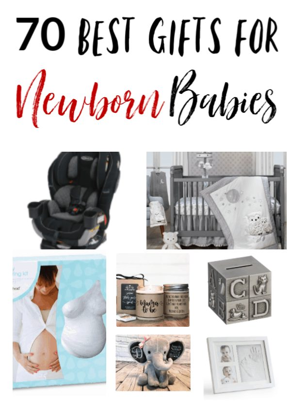 Best Gift Ideas for Newborn Babies - Looking for a great baby shower gift or a newborn baby gift idea? Check these 70 gift ideas for newborn babies out! Each one is hand picked and perfect for a new baby, new mom, new dad or grandparents!