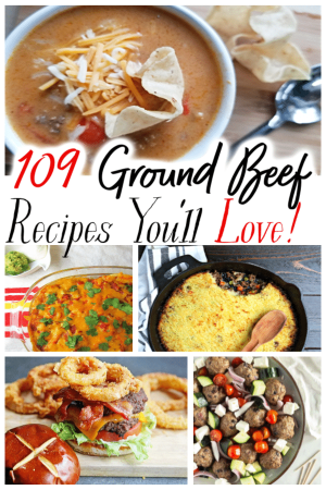 It can be such a struggle to find things to make for dinner that aren't boring! These 109 Best Ground Beef Recipes are what you need! They're sure to make dinner delicious again! Click for the recipes!