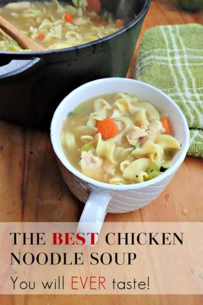 Feeling under the weather or just need a hot bowl of comfort food? This chicken noodle soup recipe is the best you'll ever try! Canning instructions included as well!