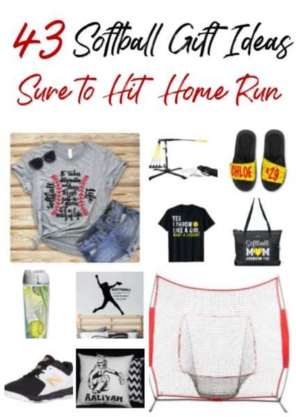 Hit a home run with these 43 softball gift ideas. They're perfect for any player or fan! Your softball player will love these softball gifts!