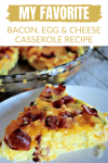 If you're looking for a simple, freezer-friendly, budget-friendly breakfast option, this bacon eggs and cheese casserole recipe will tantalize your taste buds and make breakfast super easy.