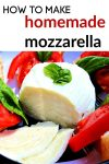 Learning how to make homemade cheese is not as difficult as you might think! This homemade mozzarella cheese recipe is super simple and tastes amazing!