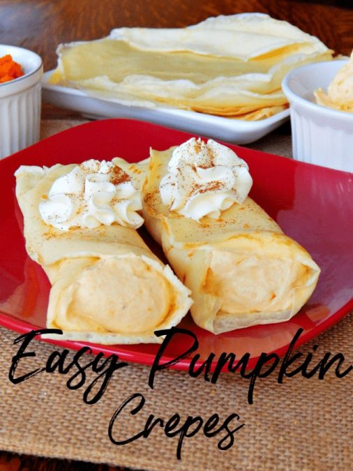 Ready for an amazing fall breakfast recipe? This easy pumpkin crepes recipe is just what you need! Quick, easy and oh so delicious!