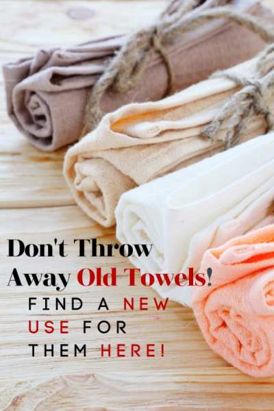Do you have holey towels? Don't throw them away! Use the ideas in this post to find new uses for old towels! These ways to use old towels might just shock you and help you save a little money at the same time!