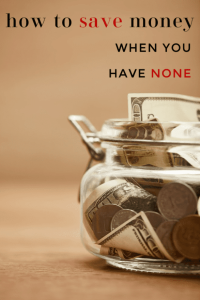 If you are living paycheck to paycheck, unemployed or just never seem to have enough money, building some savings probably seems impossible. It's not! These tips will show you how to save money when you have none (without going without your needs!)