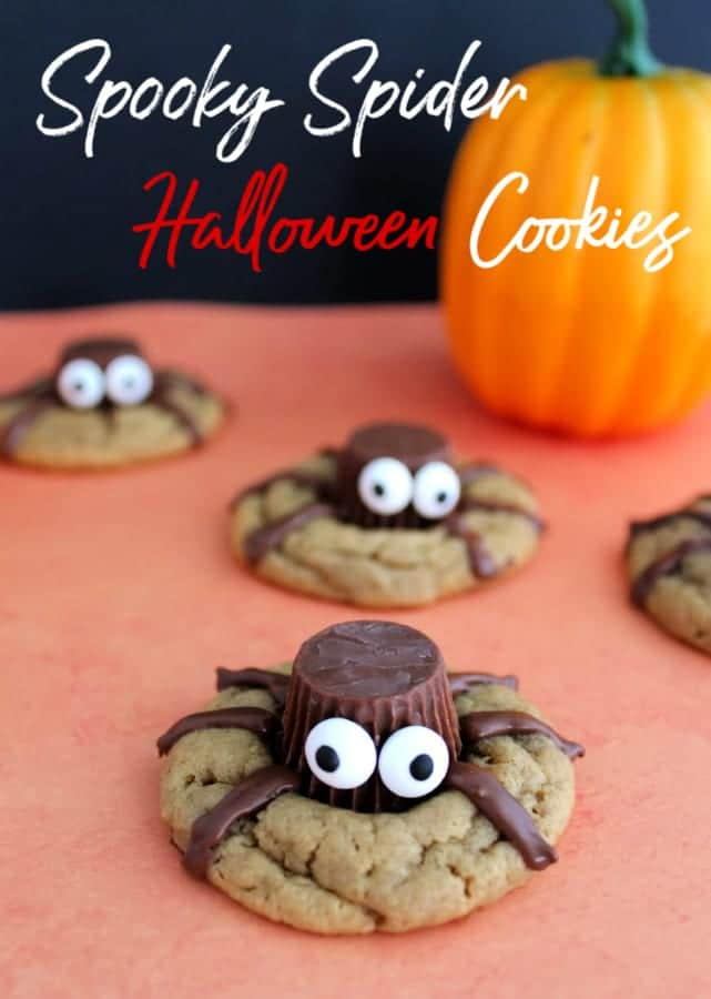 Spooky and cute, these Spider Cookies are great if you're looking for Halloween Cookies or Halloween Desserts! Scare up some for your Halloween party fun!
