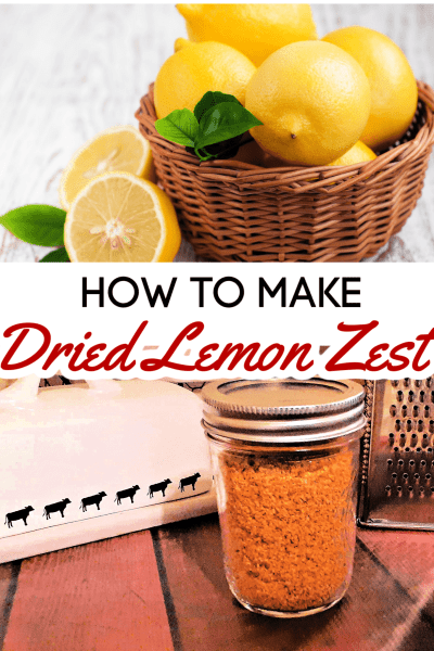 Lemon zest is a great way to add quick flavor to a recipe, but fresh lemon zest goes bad so quickly. Luckily, dried lemon zest is super easy to make and learning how to dehydrate lemon zest is a skill you'll use over and over again!
