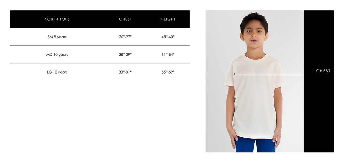 Youth Size Guide