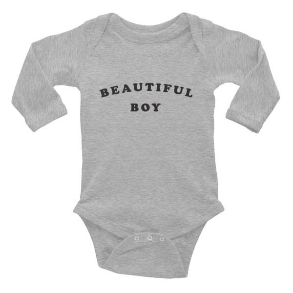 Beautiful Boy Long Sleeve Baby Bodysuit