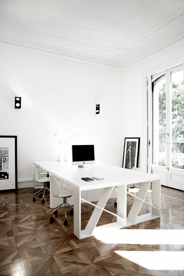 White Office Desk Workspace