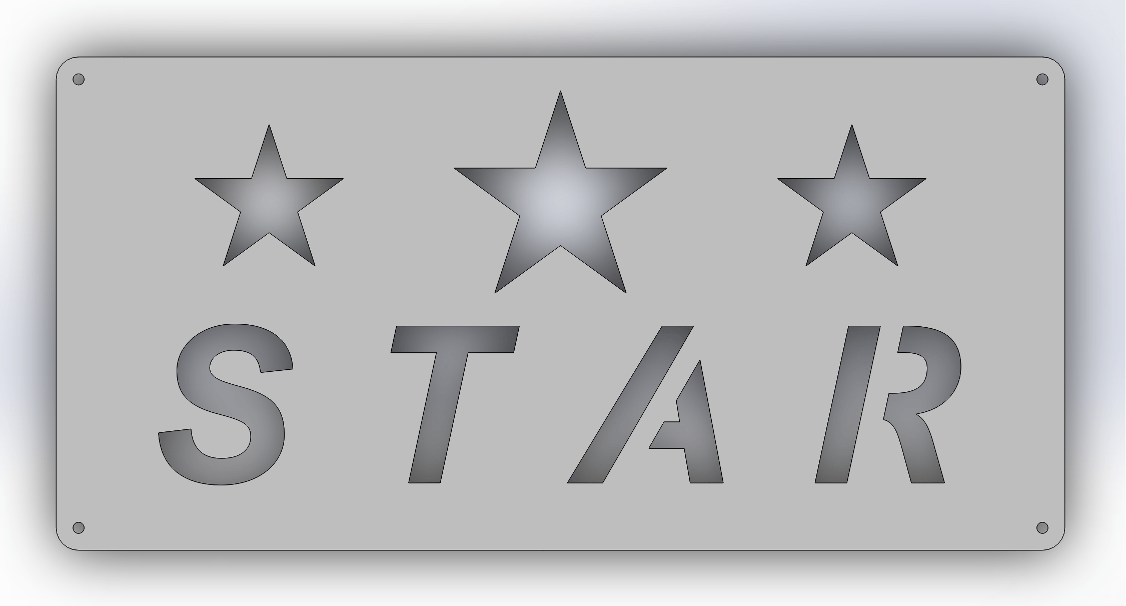 A simple sign drawn in Solidworks
