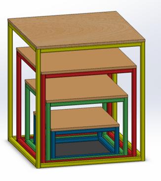 Stacked plyometrics boxes.