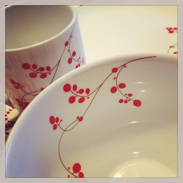 Love my new china pattern from El & Gwen