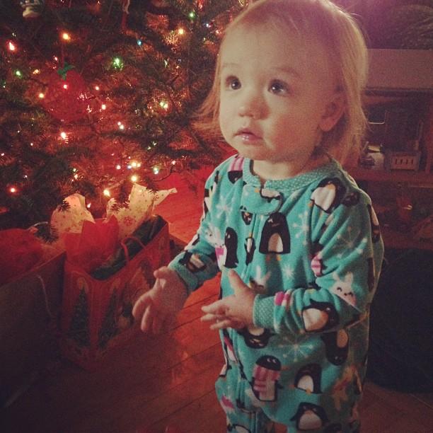 Sweetie in her Christmas jammies