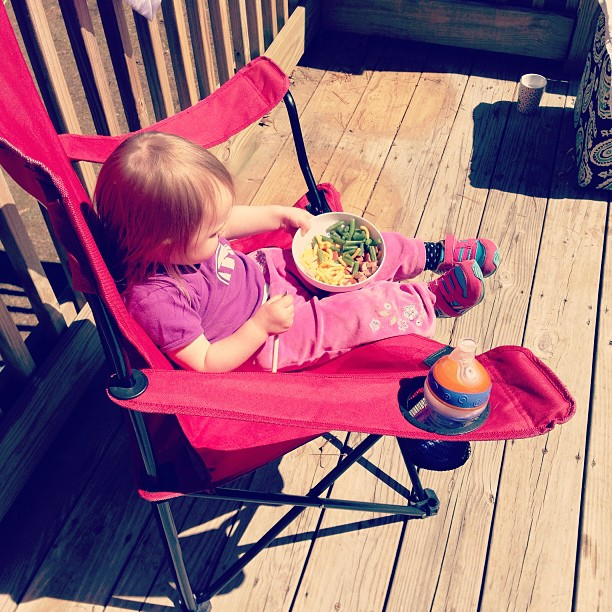 Picnic lunch on the porch