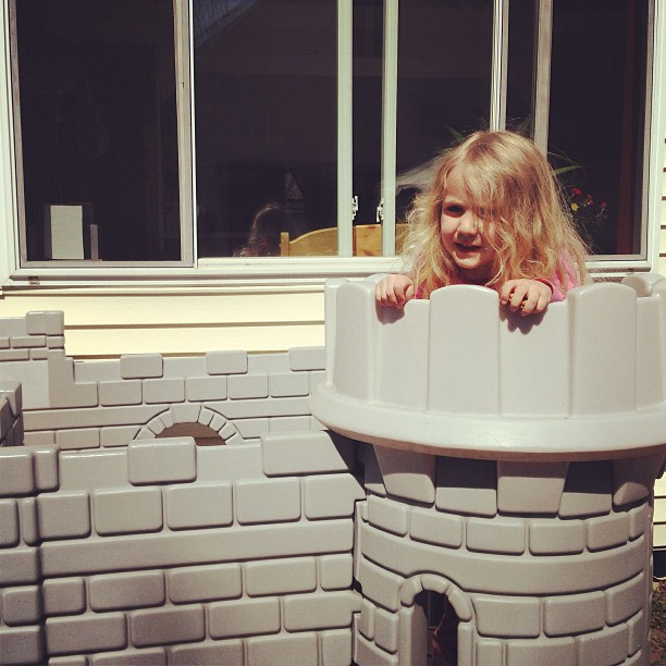 Storming her friend's castle