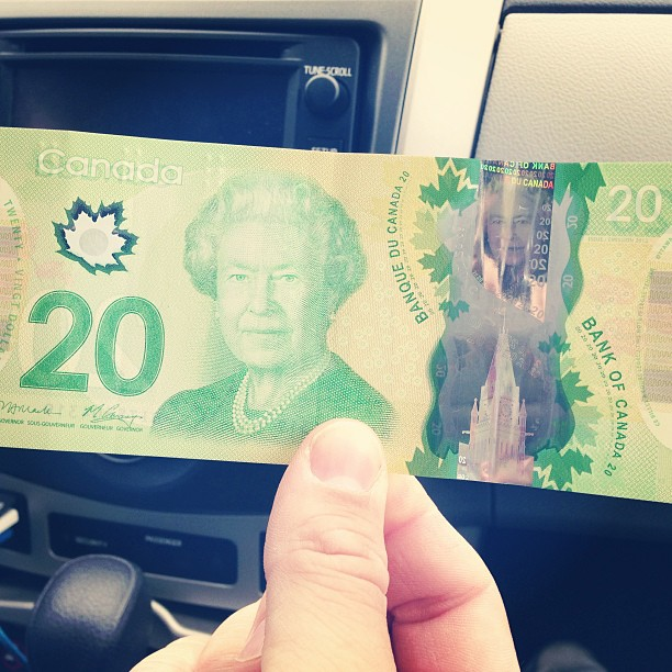 Watch out, Canada, here we come, with your weird Canadian $$