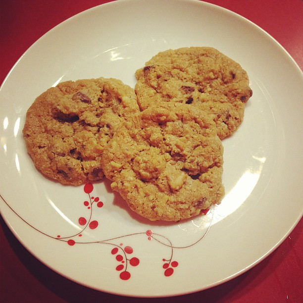 Cookies! Made oatmeal chocolate chip cookies w Michelle & Sheri over Skype.  What modern lives we lead :) So much fun!!