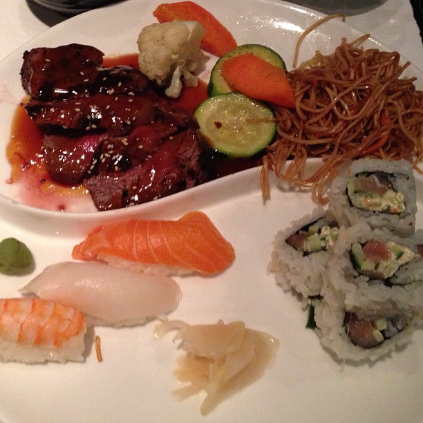 Filet and sushi