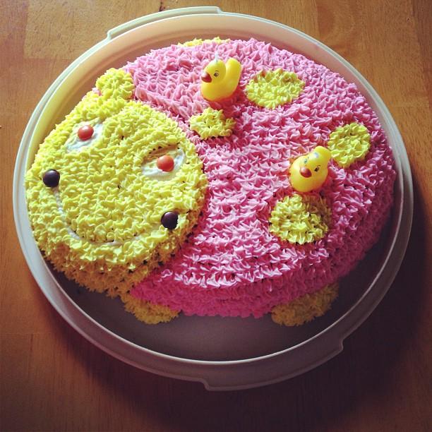"""Cake! With """"quack quack"""" candles"""