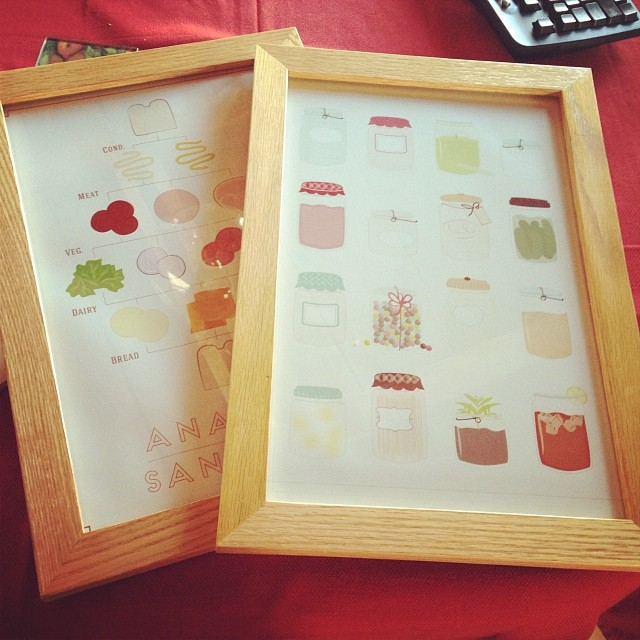 My prints in beautiful handmade frames by my dad :)