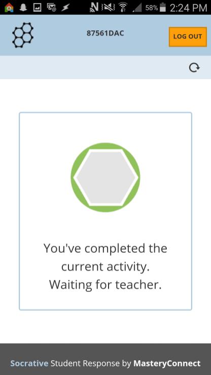 Socrative wait screen