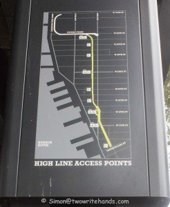 Map of the High Line