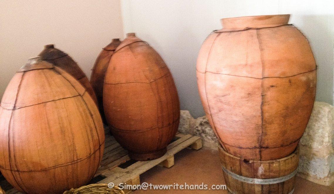 Amphoras at the Kadma Winery