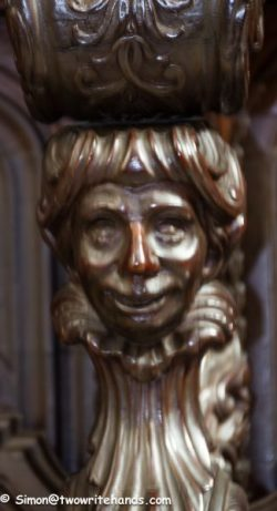 Wood Carving on a Choir Stall in the Cathedral