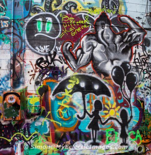 Graffiti in Art Alley, Rapid City