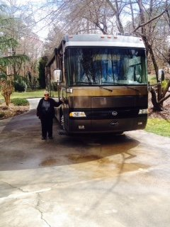 Joan with motorhome (picture courtesy of Joan)
