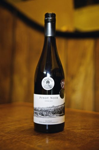 Award Winning a'Beckett Vineyard Pinot Noir (photo from the a'Beckett website)