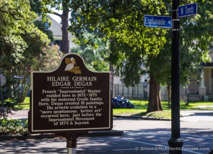 Historical Marker Outside Degas House