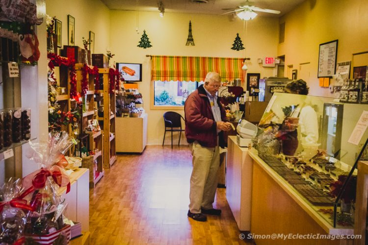 See a Wonderful Display of Chocolate at Claude's Chocolates Store in St. Augustine (©simon@myeclecticimages.com)