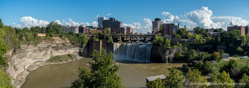 Panoramic View of High Falls on the Genesee River in Rochester, New York (©simon@myeclecticimages.com)