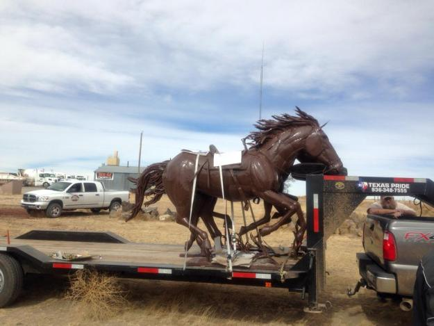 Horse on Trailer for Delivery