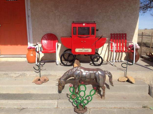 Small Horse and Horseshoe Cactus