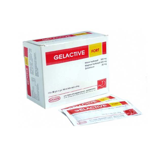 Gelactive fort Relief of symptoms of gastrointestinal disorders associated with increased secretion of gastric acid: indigestion, heartburn, epigastric burning.