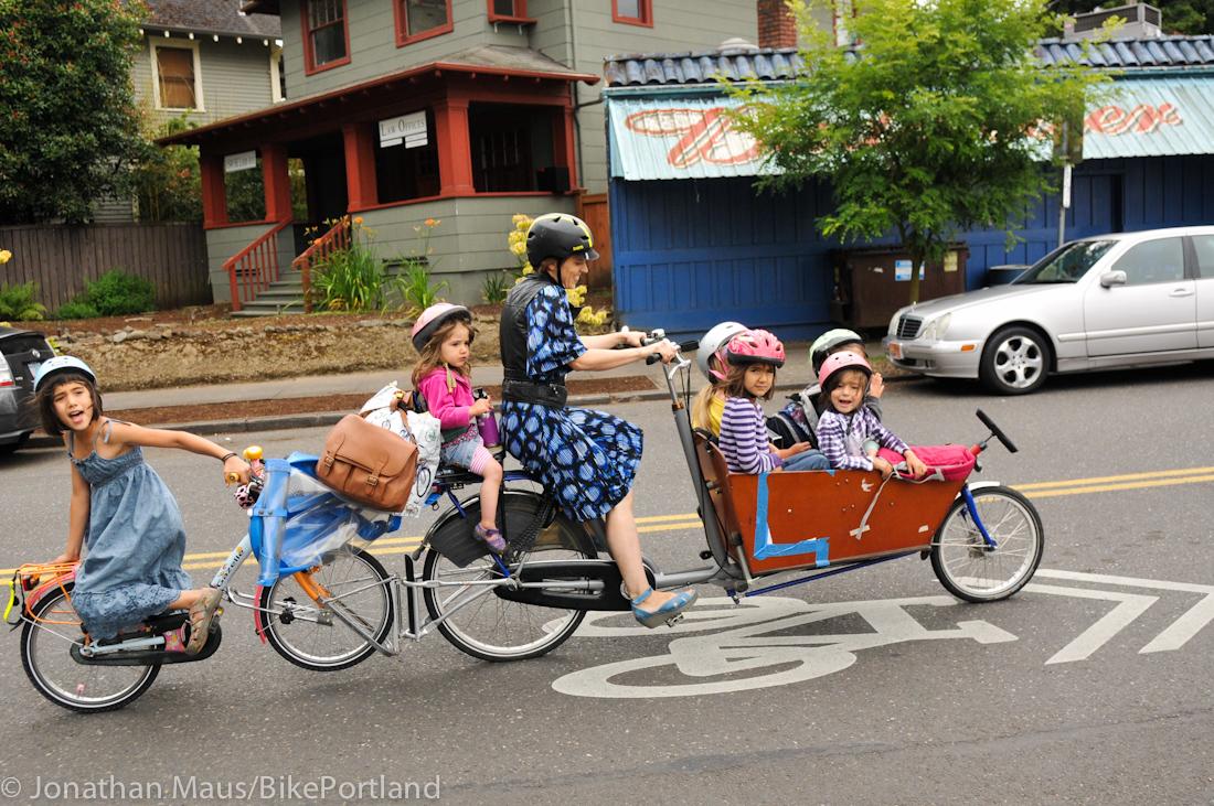 Six Kids On Bike