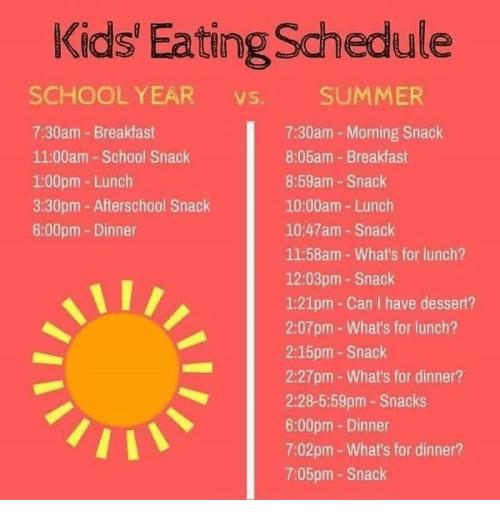 snack schedule