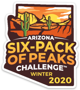 2020 Arizona Winter Six-Pack of Peaks Challenge logo