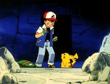ash ketchum pikachu rocks