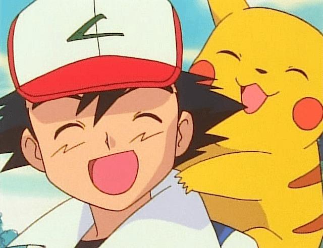 ash pikachu joy very happy