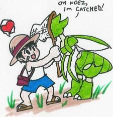 pokemon bug catcher drawing by Hyliaman